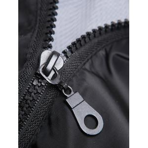 Brief Style Zipper Flying Hooded Casual Vest For Men - BLACK 4XL