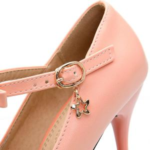 Bowknot T-Strap Stiletto Heel Pumps -