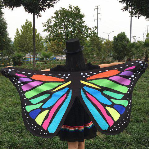 Buy Colorful Butterfly Wings Shape Scarf COLORFUL