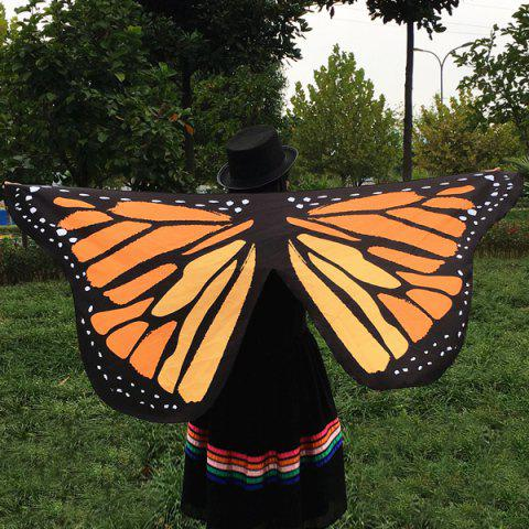 Latest Butterfly Wings Shape Scarf LIGHT BROWN