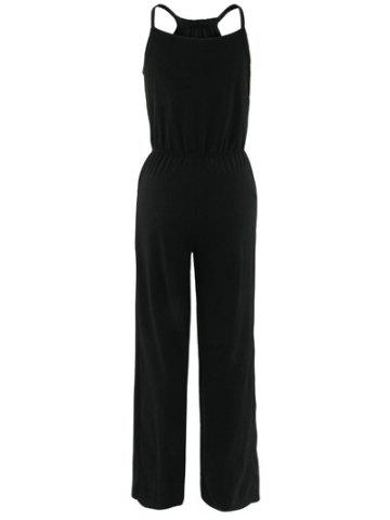 Shop High Waist Sleeveless Wide-Leg Jumpsuit