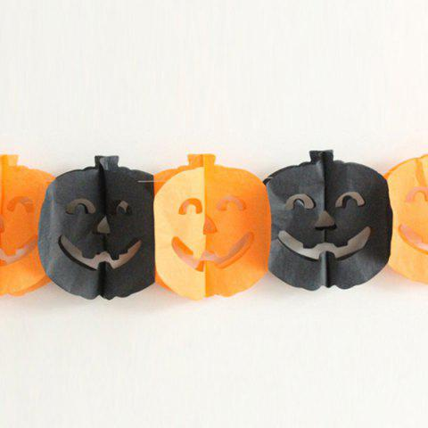 Outfit Halloween Supply Party Decoration Pumpkin Paper Cutting Prop BLACK/ORANGE