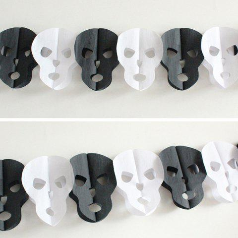 Halloween Party Paper Skull decration Prop Cutting Blanc et Noir