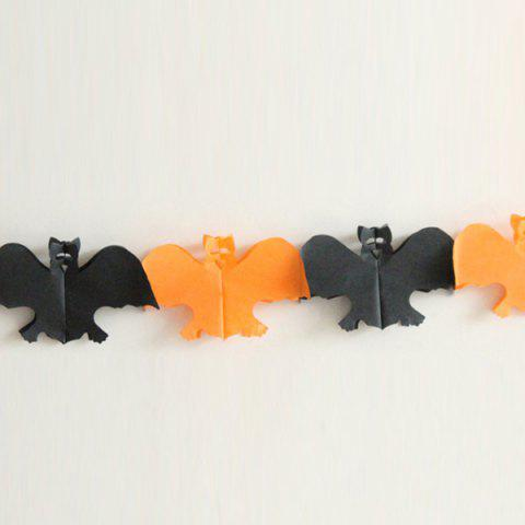 Chic Halloween Party Decoration Supplies Ghost Paper Cutting Prop - BLACK AND ORANGE  Mobile