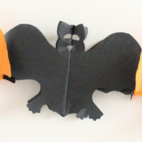 Latest Halloween Party Decoration Supplies Ghost Paper Cutting Prop - BLACK AND ORANGE  Mobile