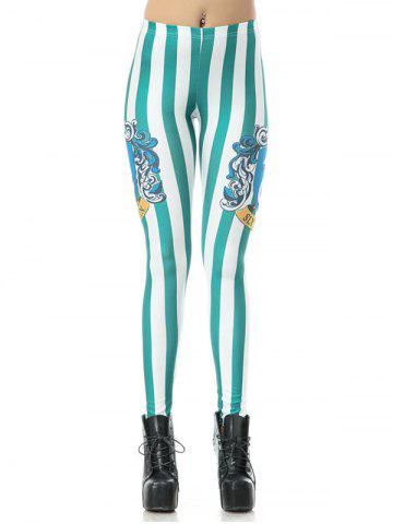 Best Printed Striped Bodycon Leggings