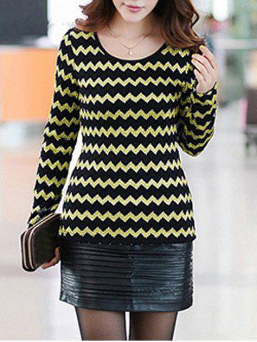Hot Stretchy Wave Pattern Knitwear