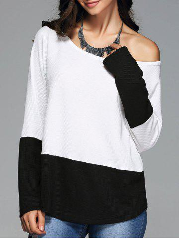 Hot Skew Collar Knitted Pullover