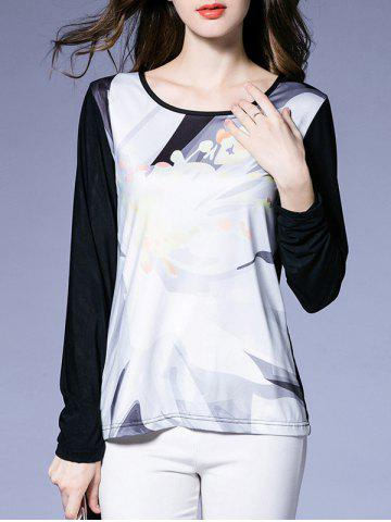 Affordable Floral Long Sleeve T-Shirt