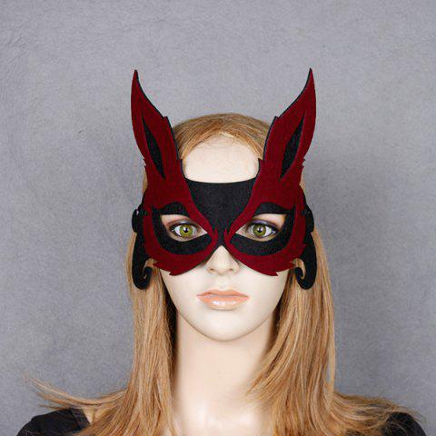 Buy Fox Hollow Out Party Halloween Mask RED