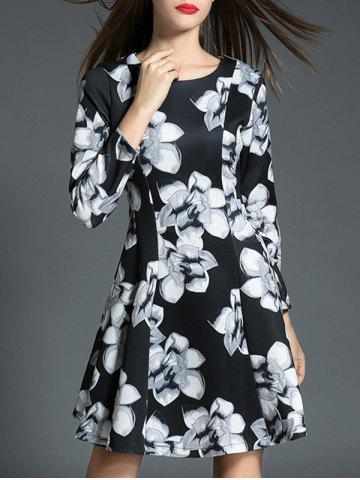 Hot Long Sleeve Slimming Floral Print Dress