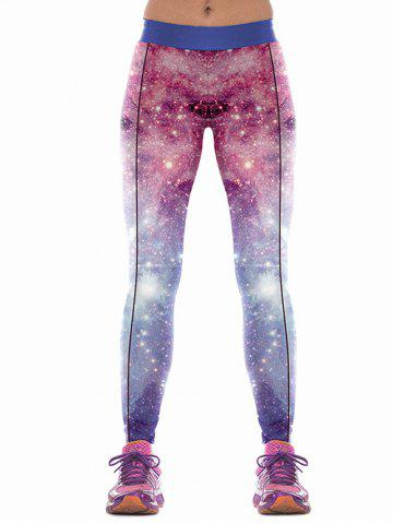 New Colorful Sky Print Skinny Sports Pants