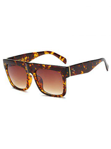 Cheap Rectangle Faux Amber Polarized Sunglasses TEA COLORED