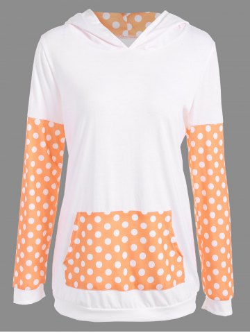Polka Dot Imprimer Sweat à capuche