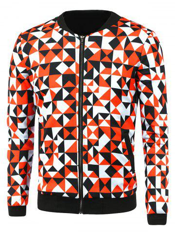 Outfit Zip-Up Triangle Printed Jacket