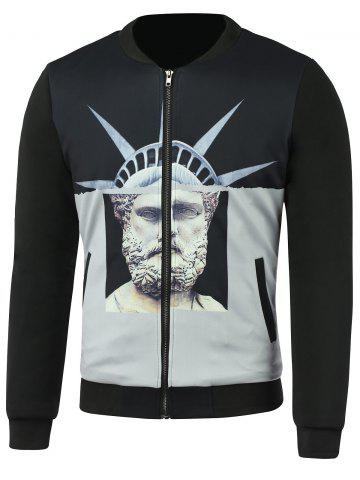Outfits Stand Collar Zip-Up 3D Print Jacket