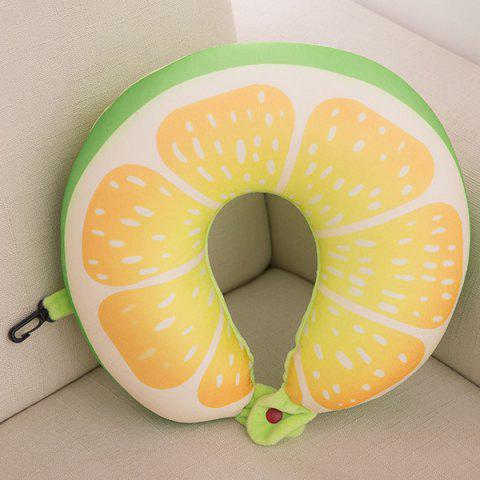 Shops Traveling Nap Neck Cushion Lemon U Shape Memory Pillow
