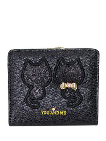 Bow Motif animal Paillettes Wallet