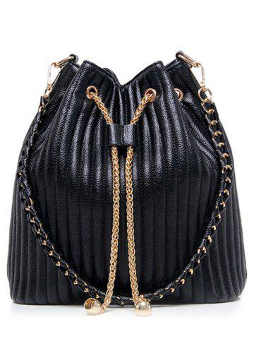 Outfit Chain Drawstring Bucket Shoulder Bag