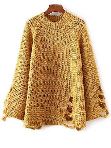 Discount Ripped Oversized Chunky Sweater