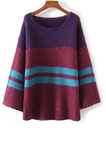 Fashion Color Block Chunky Sweater