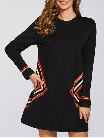 Hot Casual Shift Dress With Sleeve
