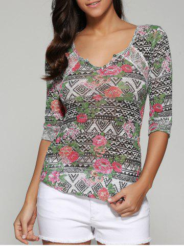 Fancy Printed Slimming Blouse