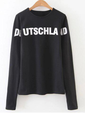Fashion Text Print Graphic Pullover Sweatshirt