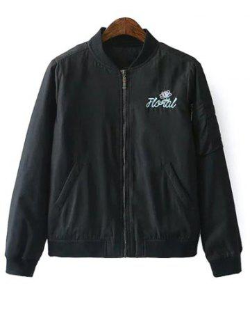Best Quilted Embroidered Bomber Jacket