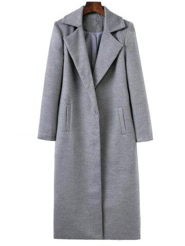 Trendy Lapel Collar Maxi Wrap Longline Cocoon Coat