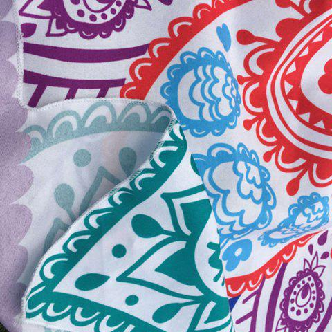 Affordable Multicolor Indian Mandala Paisley Lotus Shape Beach Throw - ONE SIZE BLUE Mobile