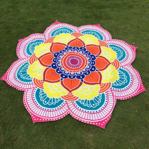 Buy Multicolor Indian Mandala Lotus Shape Beach Throw PINK ONE SIZE(FIT SIZE XS TO M)