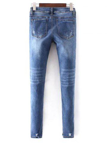 Store Slim Fit Distressed Jeans - XL BLUE Mobile