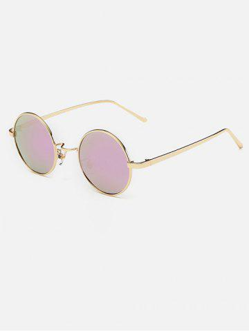 Shops Metal Retro Round Mirror Sunglasses - PINK  Mobile