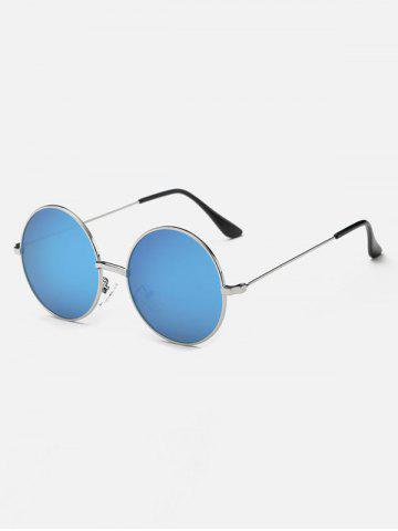 Discount Retro Slim Leg Metal Round Mirror Sunglasses