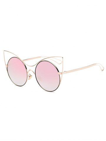 Chic Cool Hollow Out Leg Cat Eye Mirror Sunglasses
