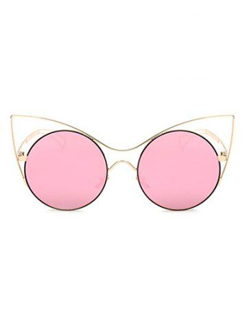 Unique Cool Hollow Out Leg Cat Eye Mirror Sunglasses