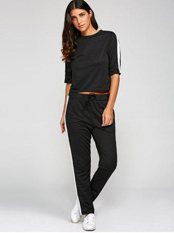 Buy 1/2 Sleeve T Shirt With Pants BLACK XL