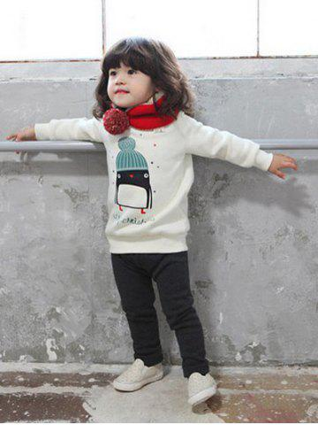 Kids Crew Neck Cartoon Penguin Print Sweatshirt