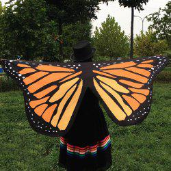Butterfly Wings Shape Scarf - LIGHT BROWN