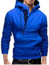 IZZUMI Long Sleeve Pocket Front Side Half-Zip Up Hoodie