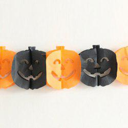 Halloween Supply Party Decoration Pumpkin Paper Cutting Prop - BLACK AND ORANGE
