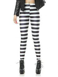 Striped Stretchy Pencil Leggings -