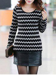Stretchy Wave Pattern Knitwear