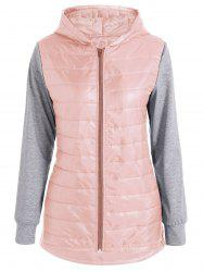 Hooded Padded Jacket - SHALLOW PINK XL