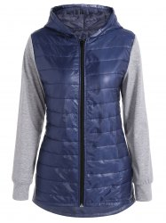 Hooded Padded Jacket - DEEP BLUE