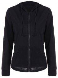 Zipper Up Pocket design Hoodie -