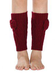Warm Small Bowknot Rhombus Crochet Knit Boot Cuffs -