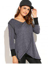 Asymmetric Thick Loose Hoodie