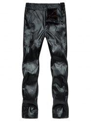 Zip Fly Straight Leg Faux Leather Pants